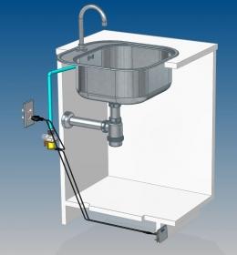 Pedal Elétrico para Rodapé de Gabinete (Inox)